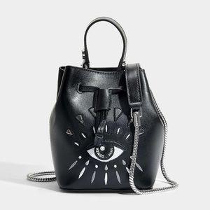 3b50773955c 💯au kenzo Mini Eye Embroidery Leather Bucket Bag